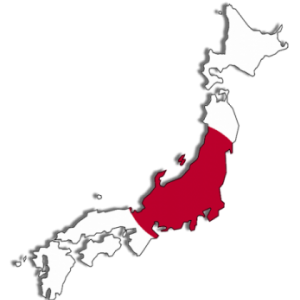 Flag map of Japan